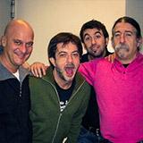 Rocco Tanica, Claudio Bisio e Fabio Treves